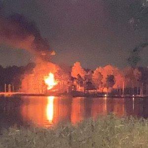 Didelis gaisras Trakuose: degė jachtklubas