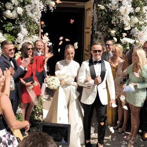 Pamatykite: vaizdo siužete – Viktorijos Siegel ir Lauryno Suodaičio vestuvių akimirkos