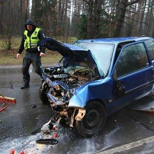 Šeštadienio avarija Vilniuje pažymėta mirtimi: vienas iš sutuoktinių neišgyveno