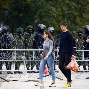 Minske, po slaptos Lukašenkos inauguracijos, sulaikyta virš 100 asmenų