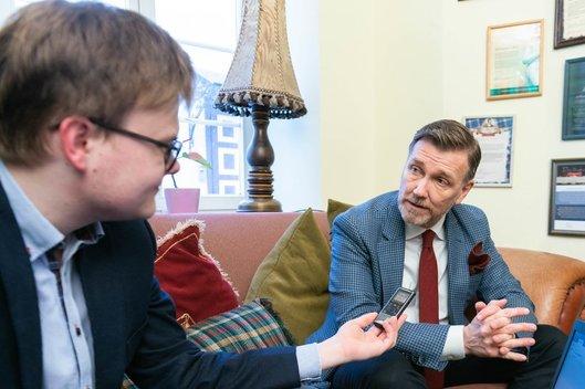 Pokalbis su Thomu Eriksonu (nuotr. Fotodiena/Justino Auškelio)