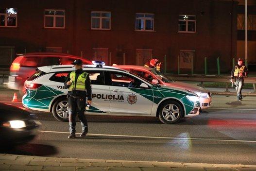 Naktinis reidas Vilniuje (nuotr. Broniaus Jablonsko)