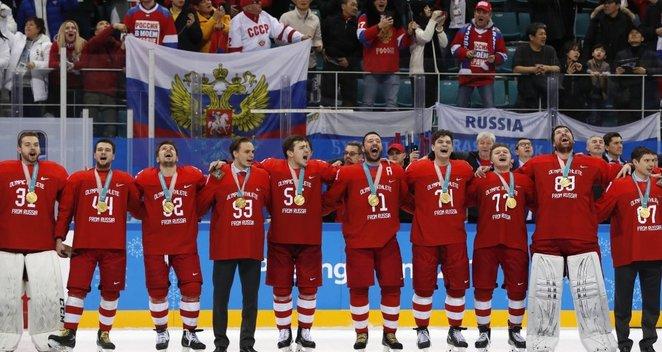 Rusijai atstovaujančių ledo ritulininkų triumfas Pjongčange