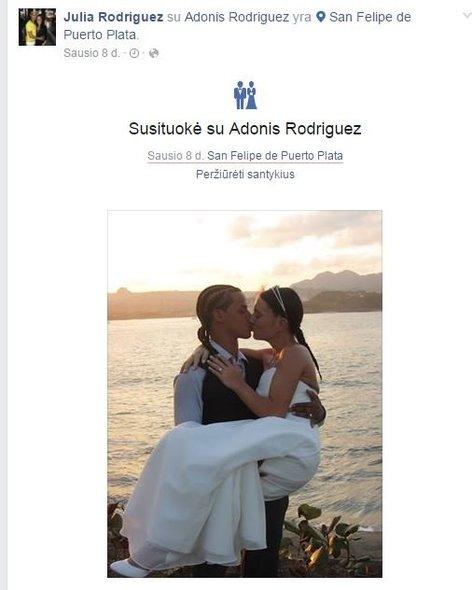 Adonis Rodriguezas ir Julia (nuotr. facebook.com)