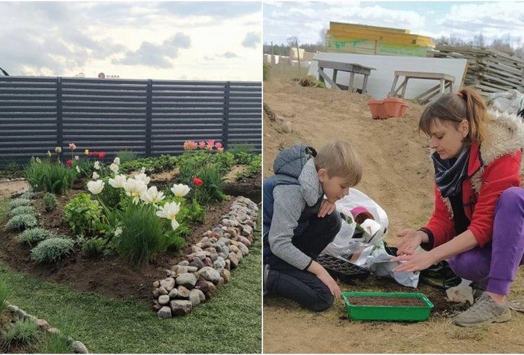 Didžiąją dalį gėlių Inesa užsiaugina pati su vaikais (nuotr. valstietis.lt)