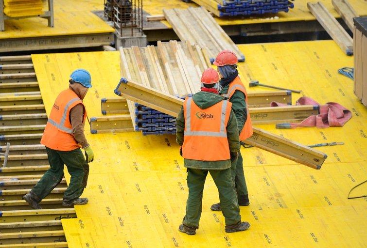 Darbas, statybos, NT, būstas (nuotr. Fotodiena/Justino Auškelio)