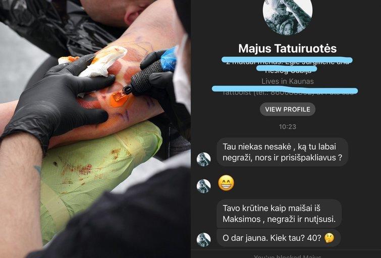 Tatuiruočių meistro žinutės (nuotr. SCANPIX) tv3.lt fotomontažas