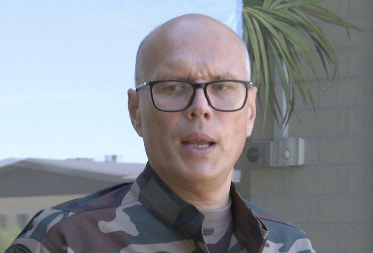 Pasieniečių vadas Rustamas Liubajevas (nuotr. stop kadras)
