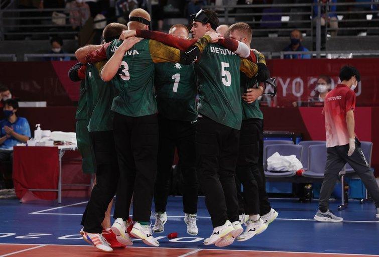 Lietuvos golbolininkai iškovojo bronzą Tokijuje (nuotr. SCANPIX)