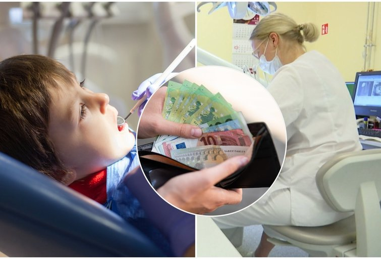 Vilnietę suglumino sąskaita už vaikų dantų taisymą