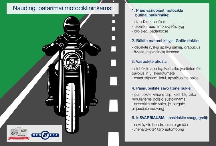 """""""Regitra"""" pataria, į ką atkreipti dėmesį prieš ruošiantis kelionei motociklu"""