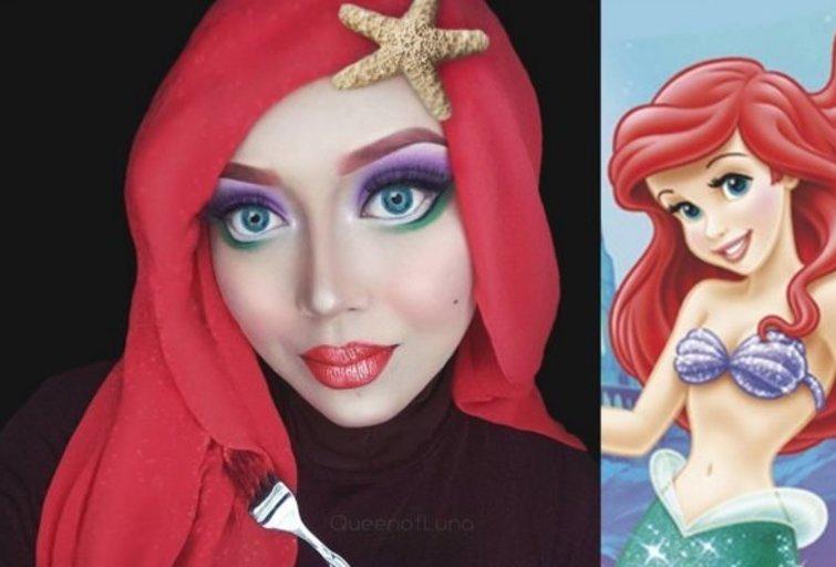 Vizažistė hidžabą paverčia įspūdinga stiliaus detale ir virsta filmų personažais (nuotr. Instagram)