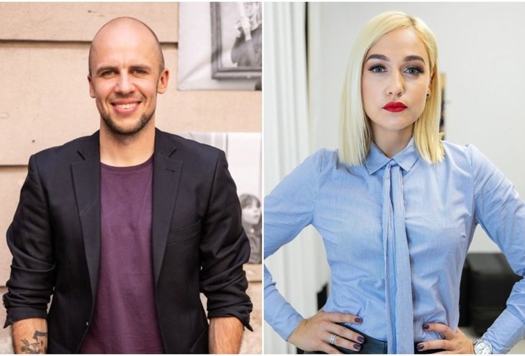 Vidas Bareikis ir Indrė Stonkuvienė (tv3.lt fotomontažas)