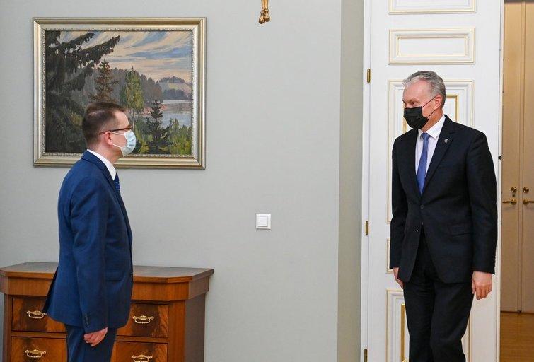 G. Nausėda susitiko ir  A. Dulkys (nuotr. Roberto Dačkaus)