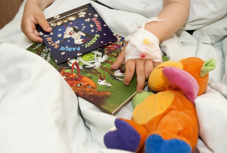 Vaikas ligoninėje (Fotobankas)