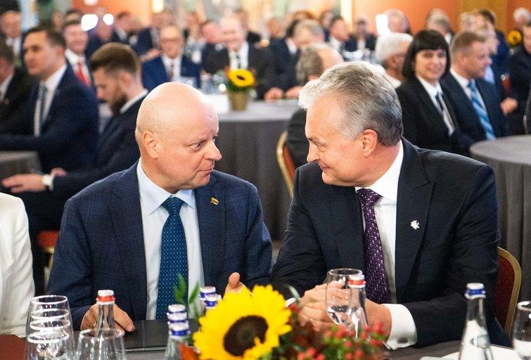 Saulius Skvernelis ir Gitanas Nausėda (nuotr. Fotodiena.lt)