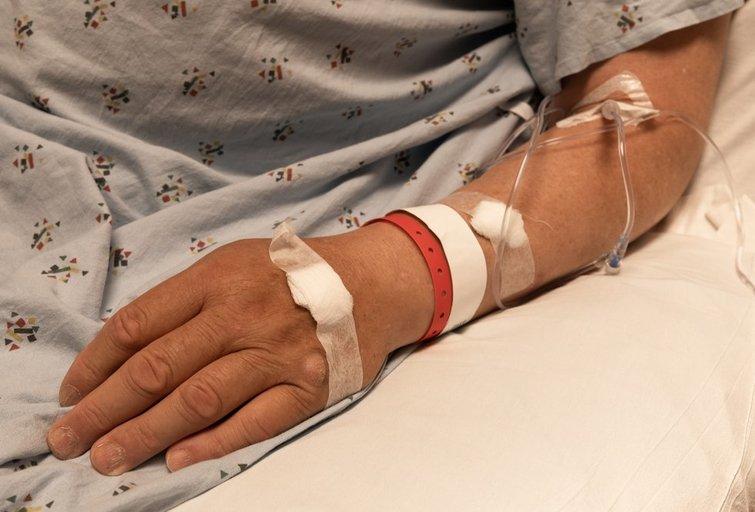 Vyras ligoninėje (nuotr. Shutterstock.com)