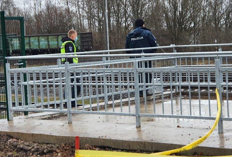 Nelaimė Kauno pakraštyje: traukinys partrenkė jaunuolį (nuotr. tv3.lt)