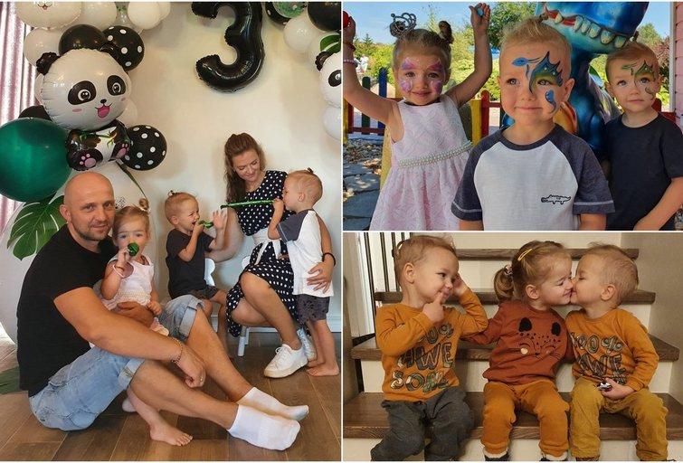Klaipėdiečių šeimoje karaliauja trynukai (tv3.lt fotomontažas)