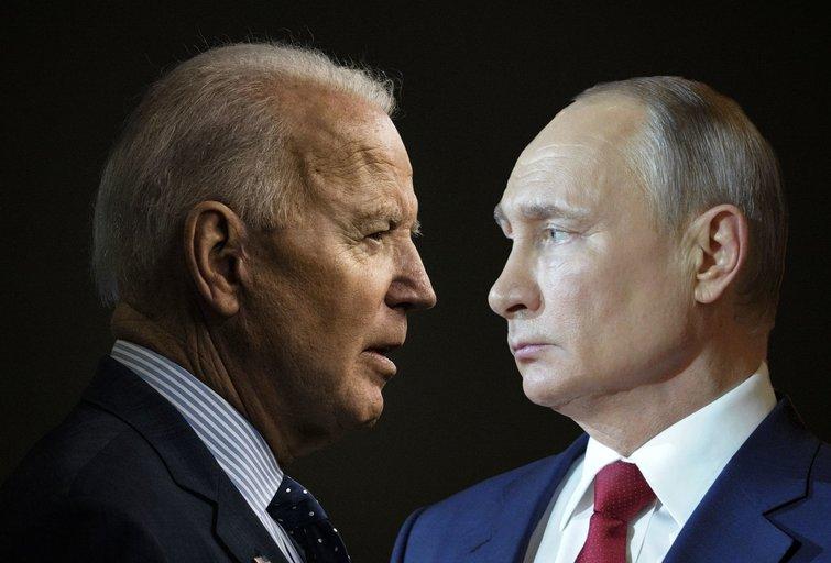 """Bideno susitikimas su Putinu: apie ką kalbėtis su """"žudiku""""? (nuotr. SCANPIX) tv3.lt fotomontažas"""