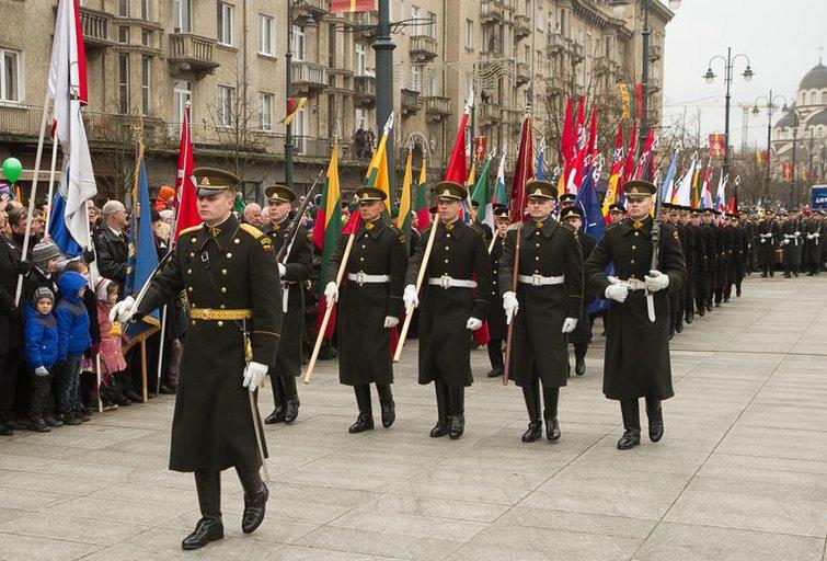 Trijų Baltijos valstybių vėliavų pakėlimo ceremonija (nuotr. Balsas.lt/Ruslano Kondratjevo)
