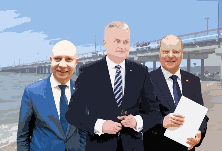 Aurelijus Veryga, Gitanas Nausėda ir Saulius Skvernelis (tv3.lt fotomontažas)