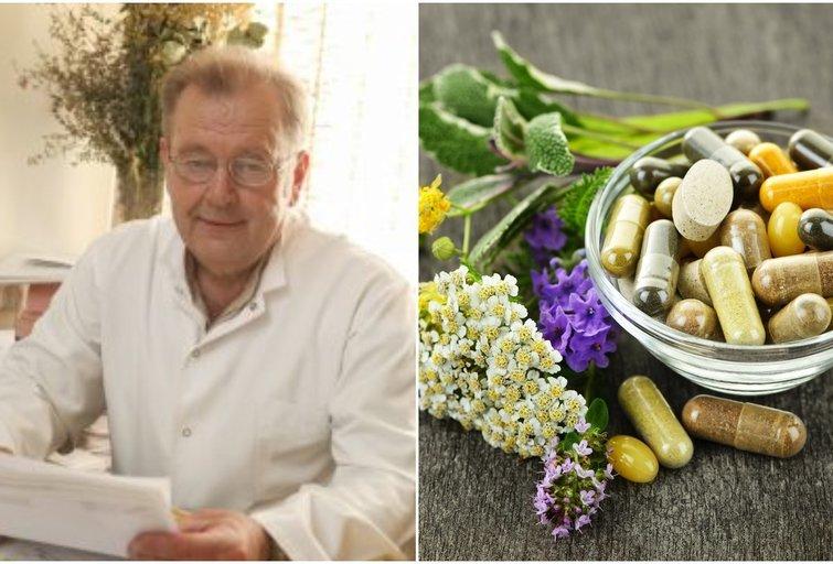 Garsusis fitoterapeutas Juozas Ruolia pasakoja apie vitaminų nauda mūsų organizmui (tv3.lt fotomontažas)