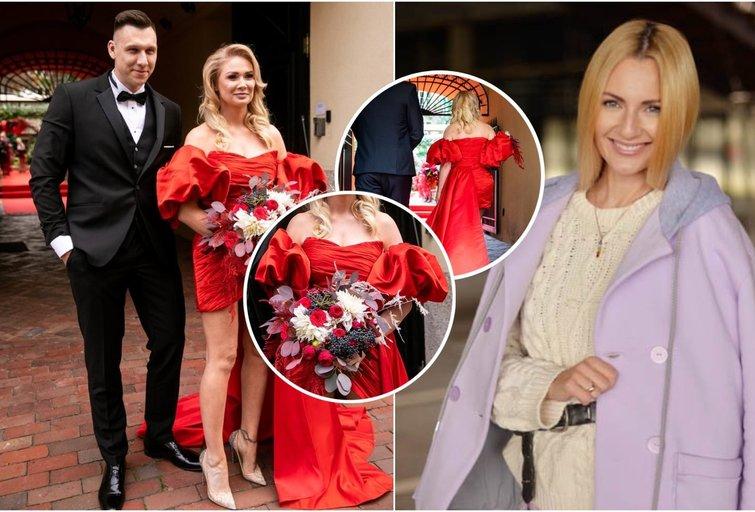 N. Bunkės vestuvinė suknelė buvo sukurta per savaitę  (tv3.lt fotomontažas)
