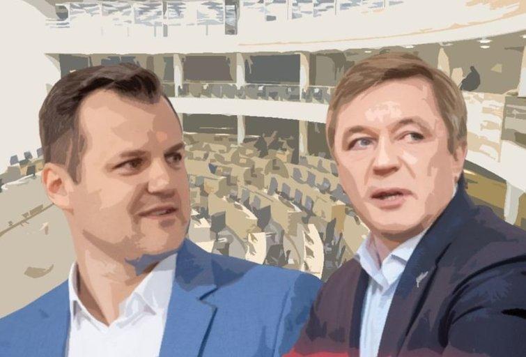 Gintautas Paluckas. Ramūnas Karbauskis (tv3.lt fotomontažas)