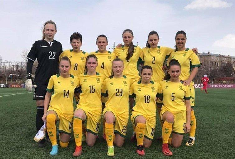 Lietuvos moterų futbolo rinktinė . (nuotr. LFF.lt)