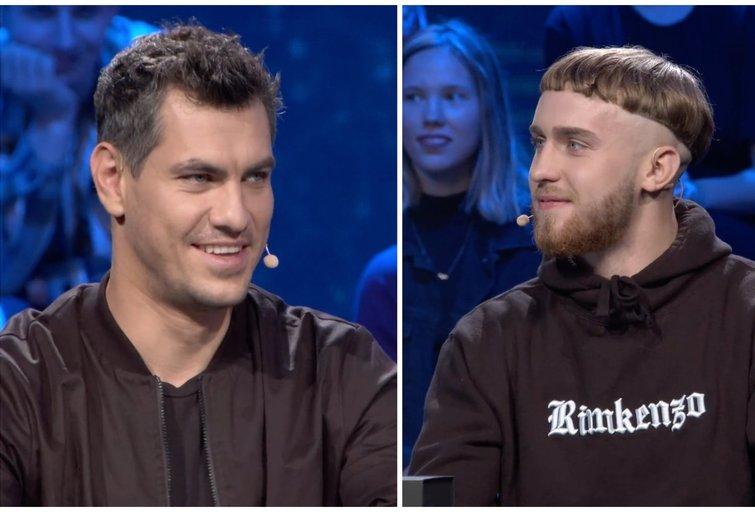 Justinas Jankevičius ir Rimkenzo (tv3.lt fotomontažas)