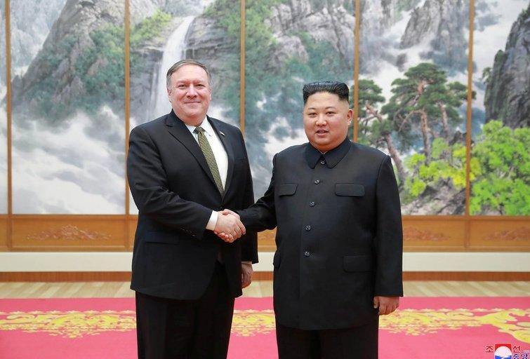 """Pompeo mato """"reikšmingą pažangą"""" derybose su Šiaurės Korėja (nuotr. SCANPIX)"""