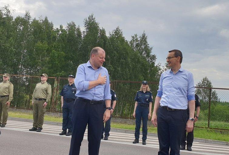 S. Skvernelis ir Lenkijos premjeras Morawieckis (nuotr. Raimundo Maslausko)