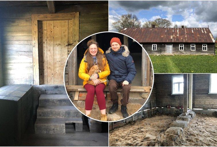 Rolandas su žmona savo namus kuria 100 metų senumo name