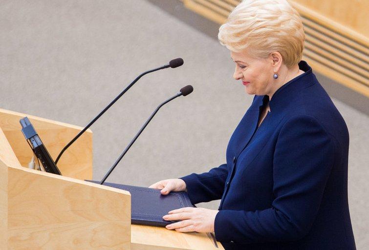 Prezidentės Dalios Grybauskaitės metinis pranešimas (nuotr. BFL)