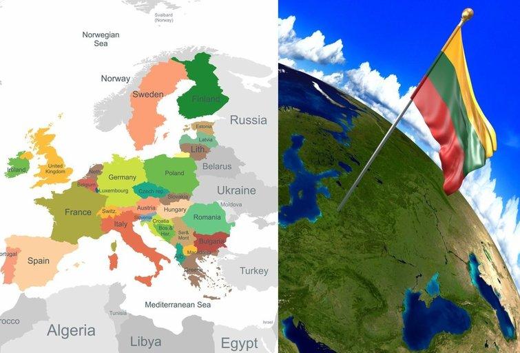 Europos žemėlapis (nuotr. Fotolia.com)