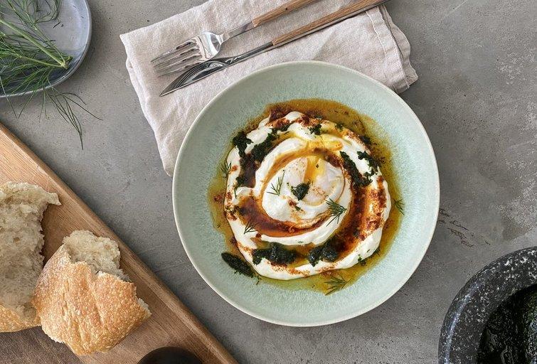 Turkiškas kiaušinis Cilbir ( nuotr. autorių)