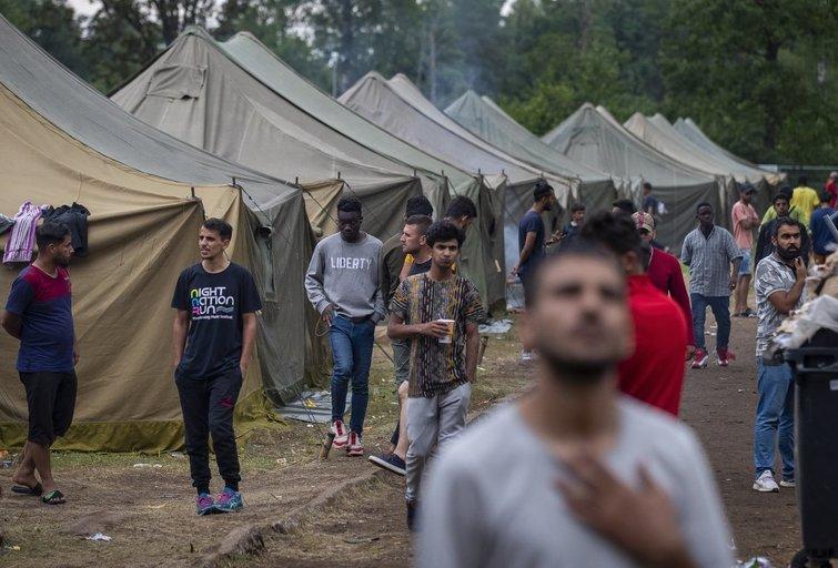 Migrantai Rūdninkuose (nuotr. SCANPIX)