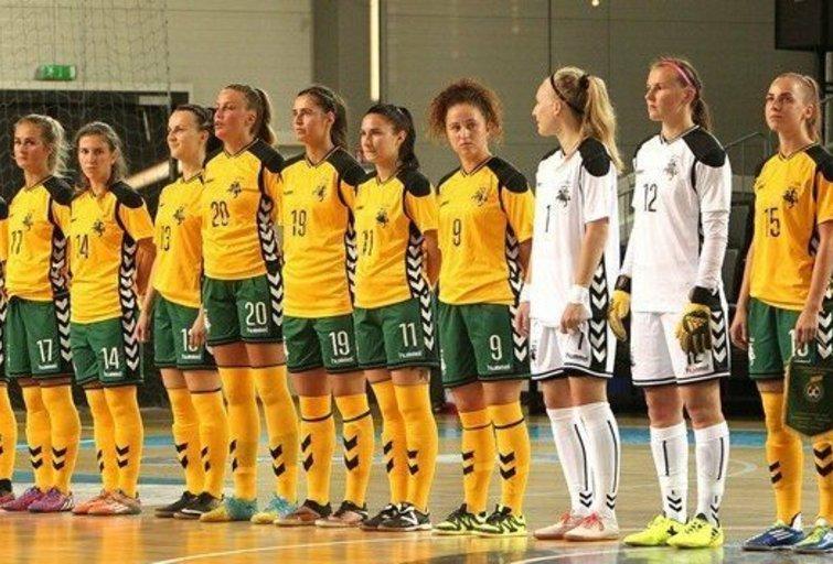 Lietuvos moterų salės futbolo rinktinė. (nuotr. LFF.lt)