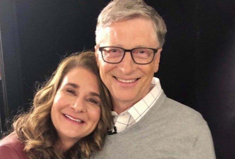 Billas Gatesas su žmona Melinda (nuotr. Instagram)