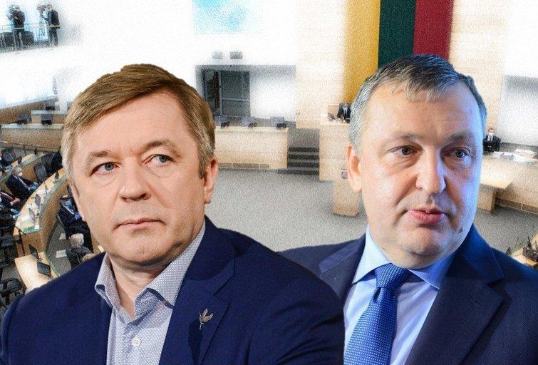 R. Karbauskis ir A. Guoga (tv3.lt fotomontažas)