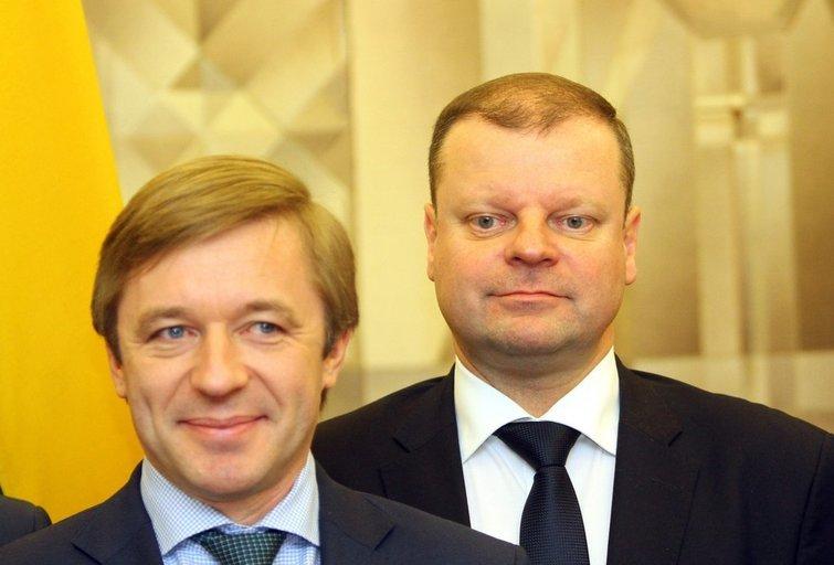 Ramūnas Karbauskis ir Saulius Skvernelis (nuotr. SCANPIX)