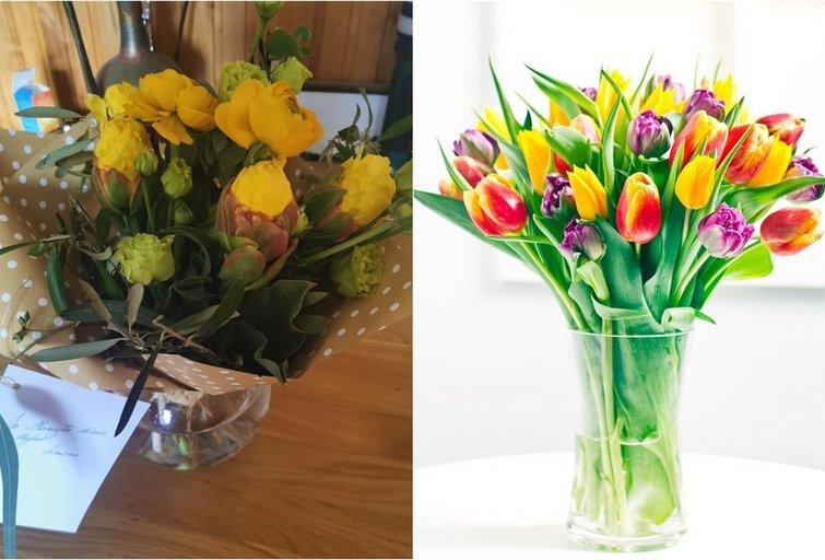 Simona liko nusivylusi užsakytomis gėlėmis