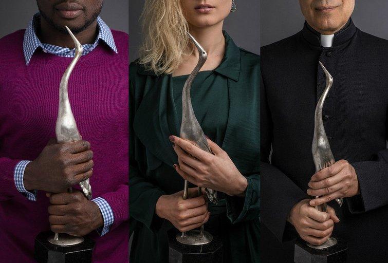"""Apdovanojimų """"Sidabrinė gervė"""" rengėjai pristatė jautrią fotosesiją (nuotr. Organizatorių)"""