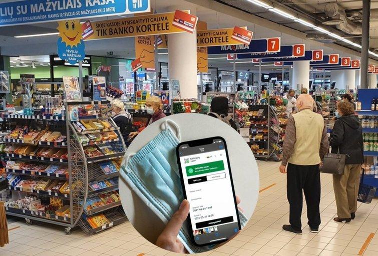 Neturintiems galimybių paso siūlo nupirkti reikalingų prekių (tv3.lt fotomontažas)