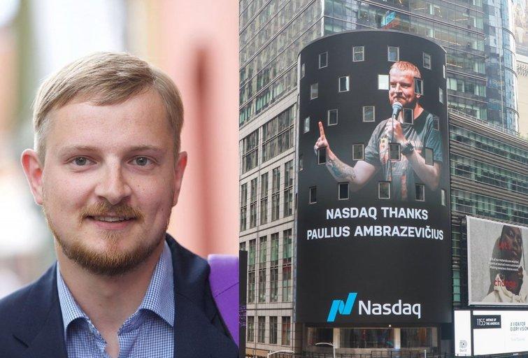 """Pauliaus Ambrazevičiaus nuotrauka """"Times"""" aikštėje (tv3.lt koliažas)"""