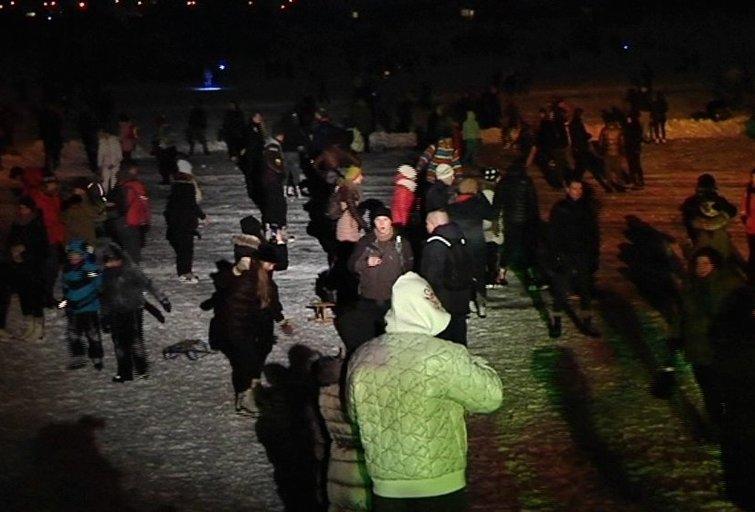 Diskoteka ant ežero ledo (nuotr. TV3)