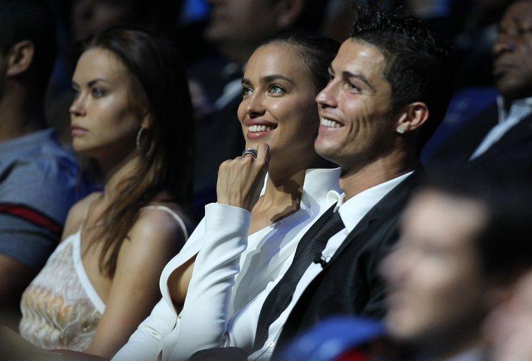 Cristiano Ronaldo ir modelis Irina Shayk (nuotr. SCANPIX)