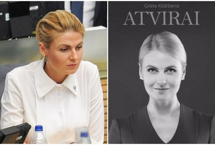 """Gretos Kildišienės knyga """"Atvirai"""" (TV3 koliažas) (nuotr. facebook.com)"""