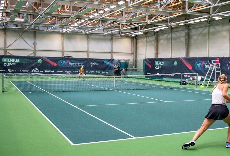 Vilniuje prasidėjo ITF World Tennis Tour serijos moterų teniso turnyras. (nuotr. Sauliaus Čirbos)